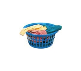 Basic Round Laundry Basket College Laundry Supplies