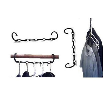 Add for space to your dorm closet with Magic Hanger!