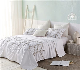 Alexandra Textured Twin XL Comforter - White