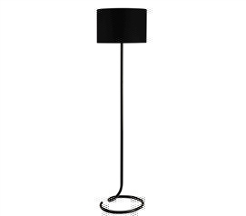 Cool Design - Snail's Tail Floor Lamp - Spiral Black - College Lamp For Studying