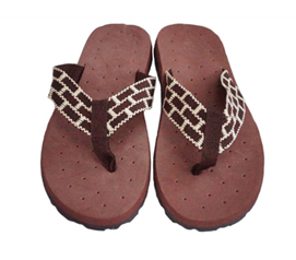 Keeps Your Feet Off The Dirty Ground - Cushion-Relax Shower Sandals - Brown Reggae