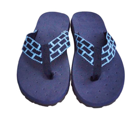 Shower With Comfortable & Safe Sandals - Cushion-Relax Shower Sandals - Navy Reggae