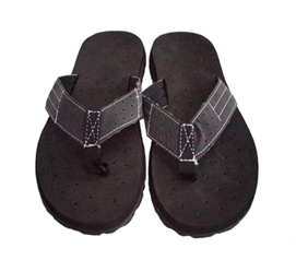 Stylish Footwear Options To Keep College Colorful - Cushion-Relax Shower Sandals - Black