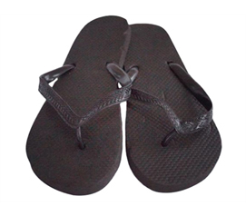 College Students Love Traditionally Colored Dorm Supplies - Black with Black Strap - Shower Sandal