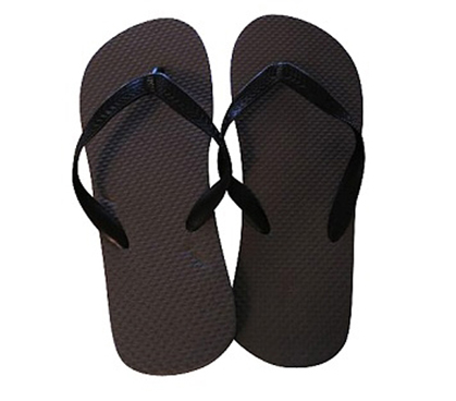 Protect Your Feet From Athletes Foot - Grey with Black Strap Shower Sandal
