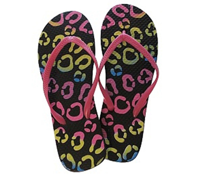 Colorful Circles/Pinky Pink - Shower Sandals - 2 Pack - Perfect For Covering Feet In Shower