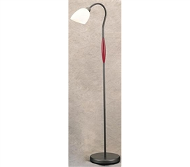 Better Than Fluorescent Lighting - Mahogany Body Floor Lamp - Don't Study In The Dark