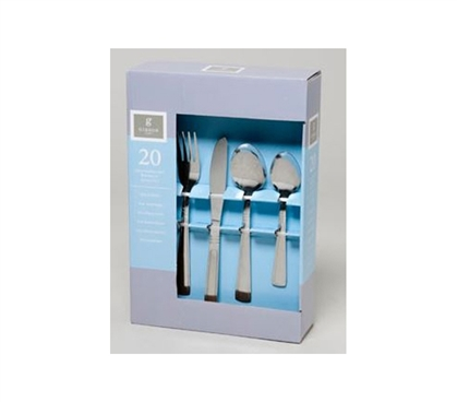 Stainless Steel Flatware Set - 20 Pieces