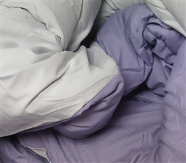 Daybreak Purple/Glacier Gray Reversible College Comforter - Twin Extra Long Dorm Bedding