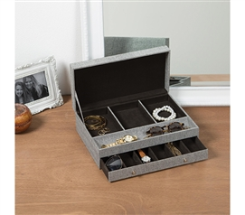 Gray Jewelry Box Dorm Necessities College Supplies