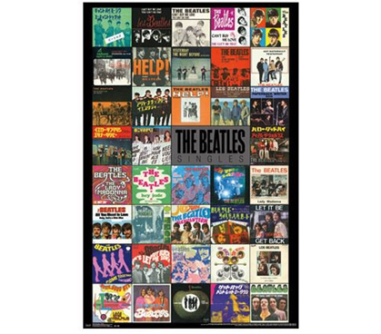 The Beatles - Singles Poster - Wall Decor For Dorms