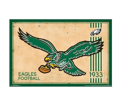 Philadelphia Eagles - Retro Logo (1933) Poster - Decorate Your Dorm Room