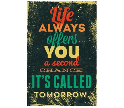Decorate Your Dorm Room - Tomorrow Inspirational Poster - Best Items For College