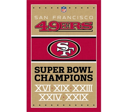 Sports Posters For Sports Fans - 49ers - Champions Poster - Decorate Your Dorm Room