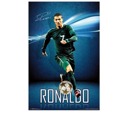 Fun Posters For College - Cristiano Ronaldo Poster - Decorate Your Dorm