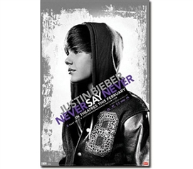 Justin Bieber Never Say Never Movie Poster College dorm room wall decor accessories