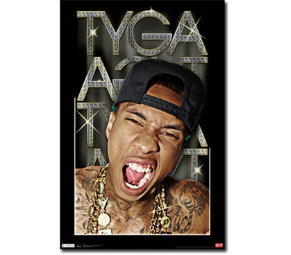 Tyga - Bling Poster - Decorate Your College Dorm Room