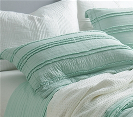 Ruffled Stone Washed Sham - Hint of Mint