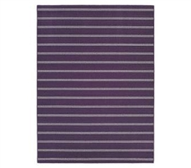 Cheap Dorm Essential - Classic Stripes College Rug - Purple - Bring Color And Fun