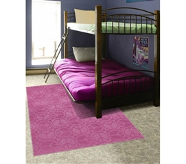 Great Dorm Decor - Pink Peace Rug - Bring Some Color To Your Dorm