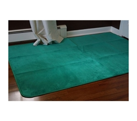Microfiber Dorm Rug - Emerald Spring Green - College Decorations For Dorms