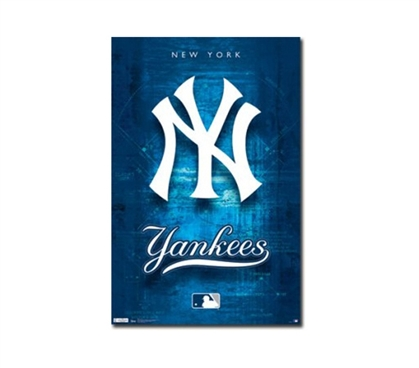 Great For Decorating Your Dorm - New York Yankees Logo Poster - Cool Sports Poster