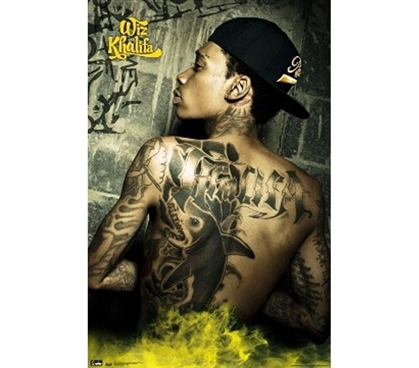 Dorm Room Essentials - Wiz Kalifa Wall Poster - Tats