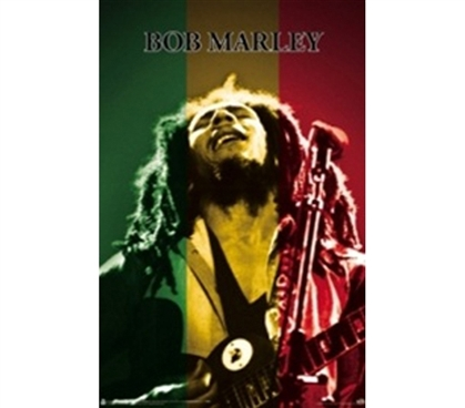 Bob Marley Colors College Dorm Poster colorful rasta college dorm poster featuring Bob Marley reggae legend