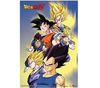 Dragonball Z - Goku, Vegeta & Vegito Poster DBZ Poster Dragonball Poster Dorm Room Decorations Dorm Room Poster