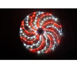 Dorm Room Decorations Red Spinning Christmas Light Wheel College Supplies