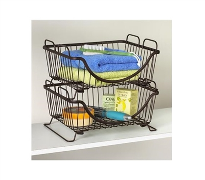 Stackable Dorm Basket Tray Dorm Room Organization Dorm Essentials