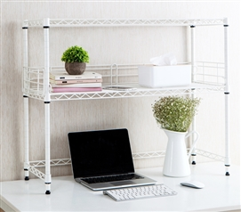 Suprima Desktop Carbon Steel Bookshelf - White