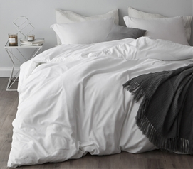 White Supersoft College Bedding - Twin XL Duvet Cover