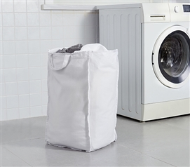 Useful Dorm Room Laundry Supplies Large White College Laundry Clothes Bag Durable Suprima
