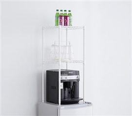 Suprima Mini-Fridge Organizer Shelves - White
