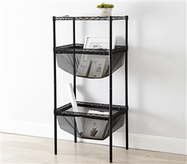 Suprima Mini Shelf Supreme - Bin Style - Black Mesh