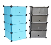 Snap Dorm Cubes - 4-Tier With Doors