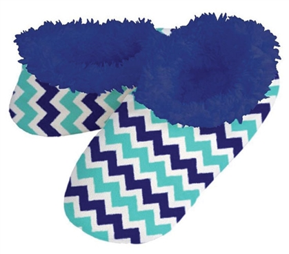 Dorm Snoozies - Two Color Blue Chevron
