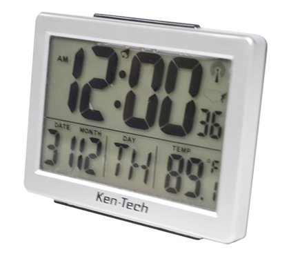 Atomic LCD Dorm Alarm Clock With Temperature