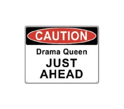 Best Items For College - Drama Queen - Tin Sign - Decorate Your Dorm Room