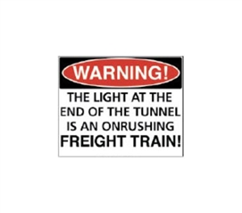 Buy College Supplies - Warning Freight Train - Tin Sign - Wall Decor For Dorms