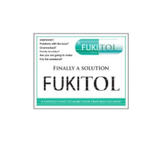 Fukitol Tin Sign College Dorm Decorations Supplies For