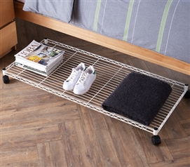 Suprima Rolling Underbed Storage Shelf - White