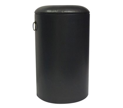 Storage Seating Stool - Black Dorm Furniture