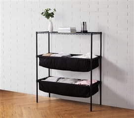 Suprima Shelf Supreme - Bin Style - Black
