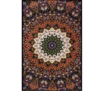3D Purple Star India Tapestry