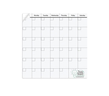 "14"" x 14"" Think Board Calendar Kit"