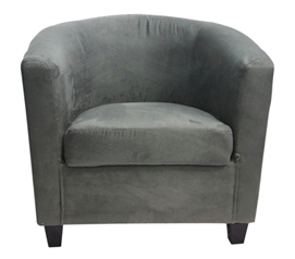 Charcoal Gray Contour College Chair Dorm Room Seating