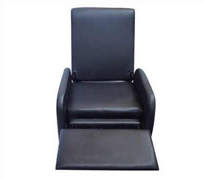 The College Recliner (Folds Compact)  - Black College Supplies Dorm Supplies Dorm Furniture