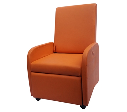 The College Recliner (Folds Compact) - Orange Dorm Essentials Dorm Furniture